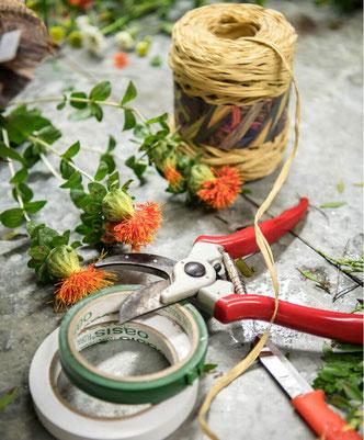 outils dans l'atelier de Sabrina Maurel