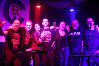 v. L.: Matze, Stefan, Beate, Maik, Karo, Axel, Markus
