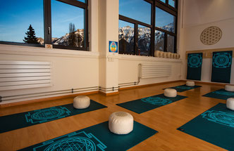 Yoga Interlaken, Yoga Studio, All 1 Yoga, Yoga, Kammistrasse, Blume des Lebens, Sri Yantra, Yoga mit Bergsicht