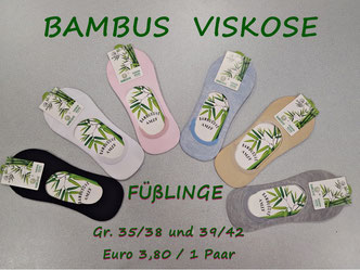 Füßlinge aus Bambus Viskose für Damen