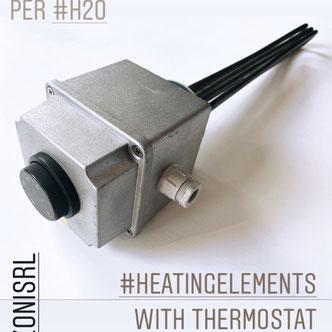 resistenze con termostato e teleruttore Lorenzoni