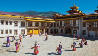 Bhutan, Reisen, Trekking, Wandern, Klosterfest in Mongar