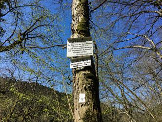 Warnhinweis für Wanderer