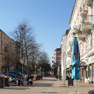Schulterblatt im Stadtteil Sternschanze