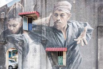 Wandmalerei und Kunst im öffentlichen Raum