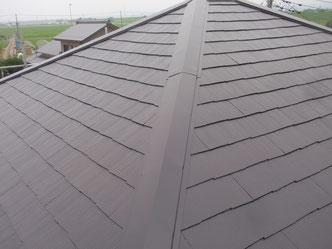 屋根の上塗2回終了