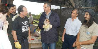 Visita y apoyo del Ministro de A. Agrarios Topo Rodríguez.