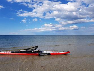 Coastal Rowing macht auch bei ruhigem Wasser Spaß