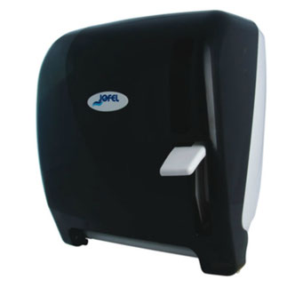 """Despachador / Dispensador de toalla en rollo palanca AG24100 Color: Humo con base blanca Dimensiones en milímetros: Alto: 366 Largo: 307 Ancho: 265 Capacidad: 1 rollo de 8"""" / 20.3 cm Contenido por caja: 1 pieza"""