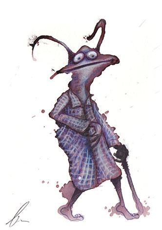 gehender Käfer