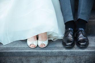 Hochzeitsreportage mit Brautschuhen