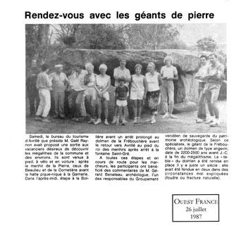 Rendez-vous avec les géants de pierre Ouest France 1987