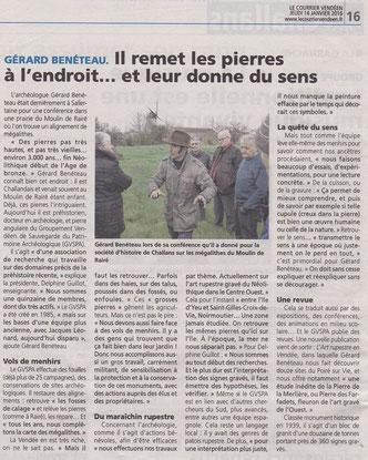 Le Courrier Vendéen - 14 janvier 2016