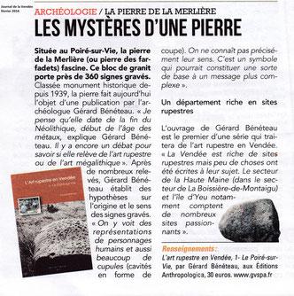 Le Journal de la Vendée - février 2016