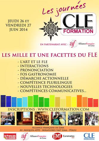 Affiche des Journées CLE Formation à Lima - 2014