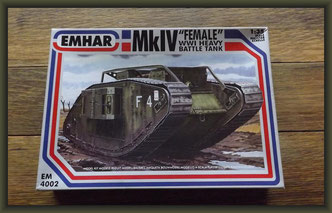 "Emhar No. 4002 Brit. Mk.IV ""Female"" Tank"
