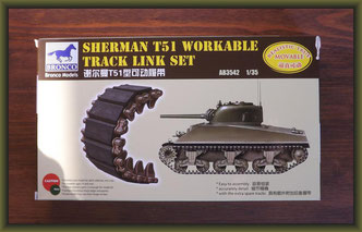 Bronco Ab3542 - 1/35 Sherman T51 Workable Track Link Set