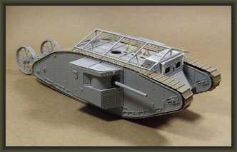 British Mk I 'Male' Tank, Diorama 1/35, Stage 5