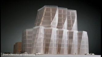 Modello del palazzo della IAC/Interactive corp. New York