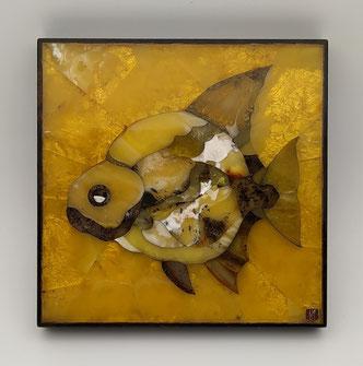 amber Florentine mosaic, amber, amber panel, art, author's work