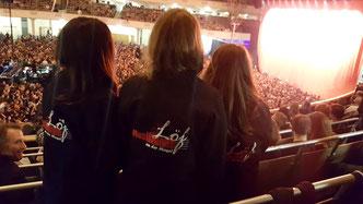 Frankfurt, Kraftklub-Konzert / Michelle, Thea & Jana