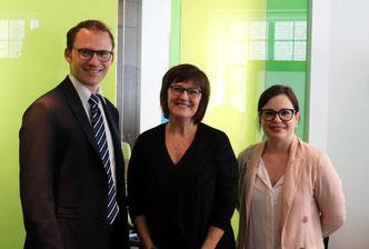 Avec la Présidente-directrice-générale du CFA (depuis 2019), Mme Johanne Whittom et Joanie Dionne Rhéaume