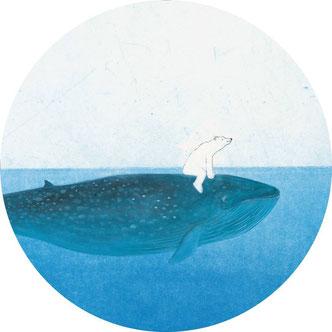 """Riding the Whale"" Wal-Tapete von KEK Amsterdam"
