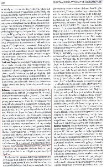 Encyklopedia Biblijna, Prymasowska Seria Biblijna, Oficyna Wydawnicza VOCATIO, Warszawa 1999, strona 407