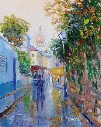 Montmartre, impressioni di novembre, olio su tela cm 40x50 (2018)