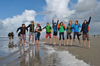 Freizeit, NAJU, NABU, Jugend, Springen, Nordsee
