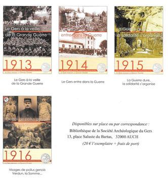 Actes colloques société archéologique du Gers Grande Guerre