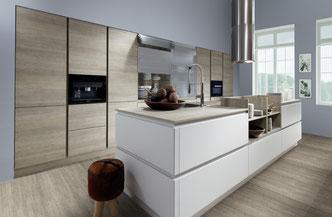 cuisine intérieur design toulouse blanche bois linéaire épurée cuisine équipée cuisine allemande moderne et tendance