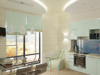 Эскиз интерьера кухни