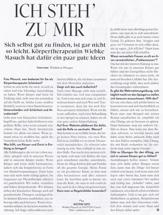 emotion 03/2017, Interview Wiebke Masuch