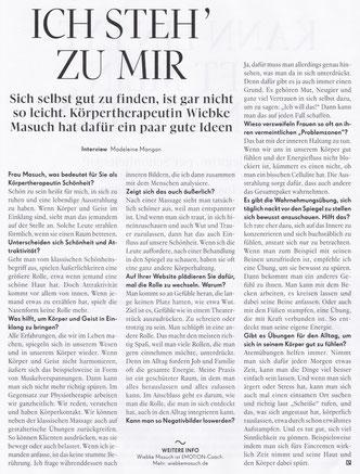 emotion 03/2017, Interview Wiebke Masuch
