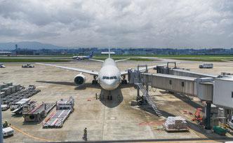 福岡空港での駐機