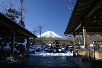 富士山が見える露天風呂