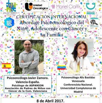 Certificación Internacional Abordaje Psicooncológico del Niñ@, Adolescente con Cáncer y su Familia - AVANZZA