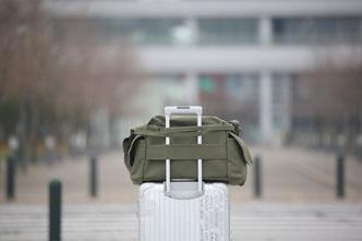 大きな旅行バッグ