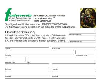 Auszug aus der Beitrittserklärung. Klicken Sie bitte auf dieses Foto, um die Beitrittserklärung als PDF-Datei zu öffnen.