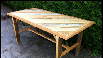 Fabrication d'une table en bois de récupération