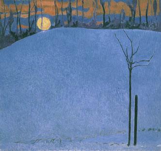 Cuno Amiet, Sonnenuntergang, um 1950