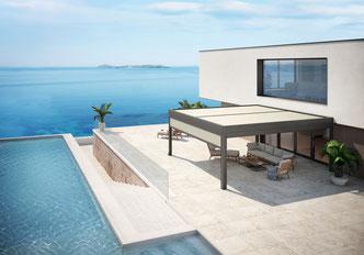 markilux markant für private Terrassen als Sonnen und Regenschutz bei Fink markisen Sonnenschutz in Großostheim