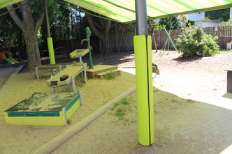 KidSkydd-Prallschutz für Markisensysteme FINK markisen Sonnenschutz Markisen für Kindergarten
