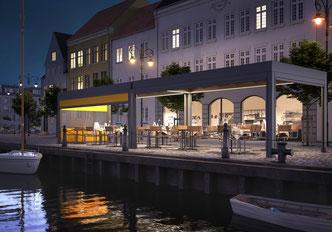 markilux markant in gastronomie markise für hotel fink markisen sonnenschutz großostheim