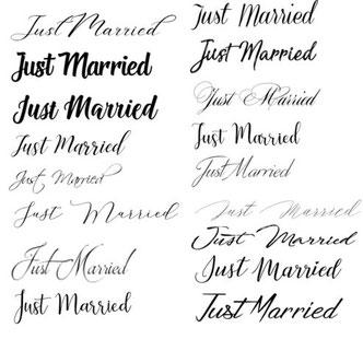 lettertypen kalligrafie tekst spijkerjasje aim your wedding