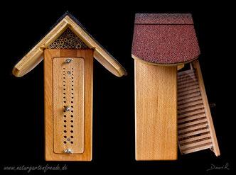 Insektenhotel Insektennisthilfe Nisthilfe Beobachtungsnistkasten Wildbienenschreiner Wildbiene wild bee insect hotel nesting aid bug house Manfred Frey