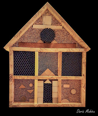 Insektenhotel Insektennisthilfe Nisthilfe Strohhalme Pappröhrchen insect hotel nisting aid wildbee bug hotel straw paper tubes