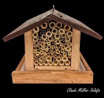Insektenhotel Insektennisthilfe Nisthilfe Schilf Bambus insect hotel nisting aid wildbee