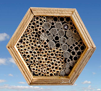 Insektennisthilfe Insektenhotel Nisthilfe Pappröhrchen Naturstrohalme Yin Yang  Käufliche Nisthilfen insect nesting aid insect hotel mason bee paper tube